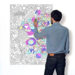 Affiche à colorier - Graphique