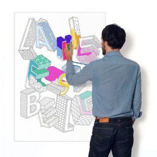 Cartel para colorear - La vie est belle