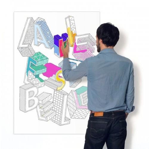 Customizable Poster - La vie est belle