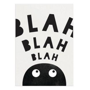 Blah Blah Blah Poster - A3