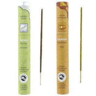Incienso ayurvédico natural 32 palitos - Pureza & Intuición