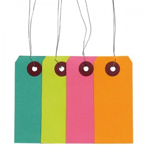 Etiquettes de couleur avec fil métallique