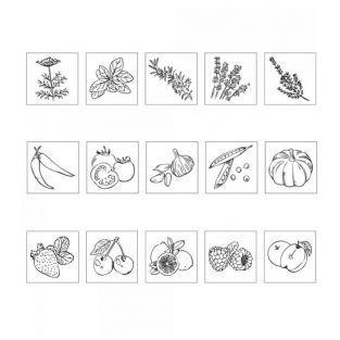 Mini wood pads - Vegetable garden