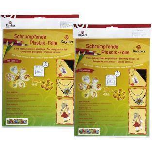 Kit de plástico retráctil - 10 hojas blanco y mate