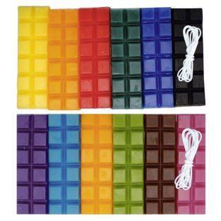 Cire à bougie 12 couleurs 480 g + 2 mèches - Automne