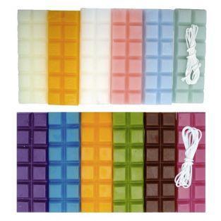Cire à bougie 12 couleurs 480 g + 2 mèches - Printemps