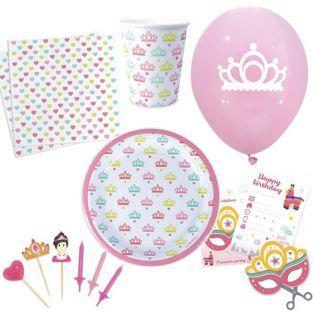 Kit vaisselle anniversaire Princesse