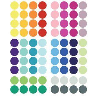 Pegatinas de colores Ø 3,5 cm