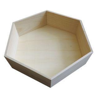 Etagère hexagonale en bois 39 x 34 x 10 cm