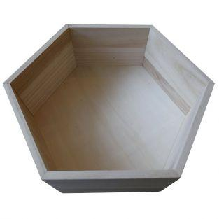 Hexagon wooden shelf 30 x 26,5 x 10 cm