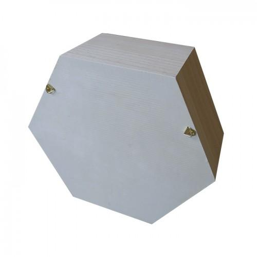 Hexagon wooden shelf 24 x 21 x 10 cm