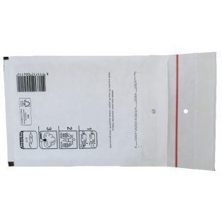 5 white bubble-padded envelopes 16,5 x 10 cm