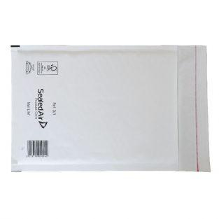 5 white bubble-padded envelopes 26 x 18 cm