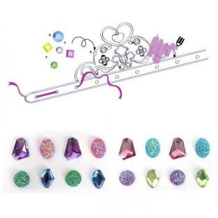 Princess tiara set to customize - multicolored gemstones