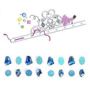 Coffret diadèmes de princesse à customiser - pierres précieuses bleues