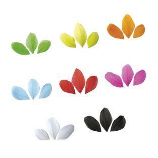 Kit de 400 plumes coupées multicolores