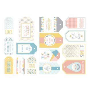 15 étiquettes pastel scandinaves ScandiSweet