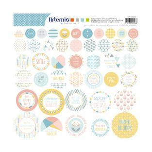 44 autocollants pastel scandinaves à scrapbooking - ScandiSweet