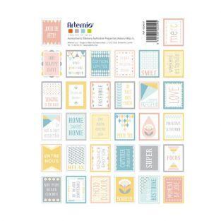 64 scandinavian pastel scrapbooking stamps - ScandiSweet
