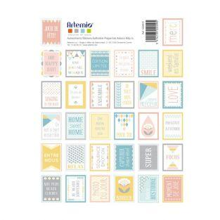 64 timbres autocollants pastel scandinaves à scrapbooking - ScandiSweet
