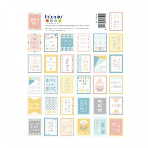 64 Scandinavian Pastel Scrapbooking Stamps Scandisweet