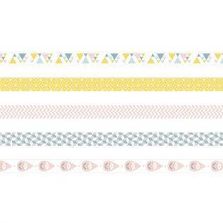 5 masking tapes 5 m x 1,5 cm - Scandisweet
