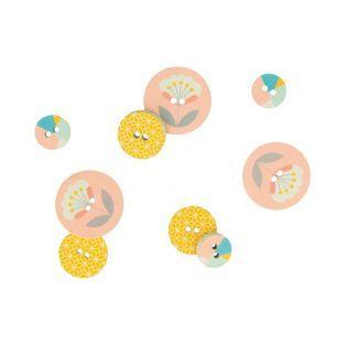12 boutons en bois Scandisweet