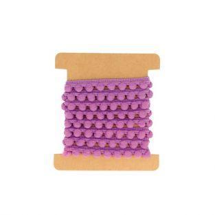 Cinta con borlas 1 m - Púrpura