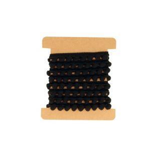 Ruban à pompons noirs 1 m