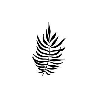 Wooden stamp 7 x 4.5 cm - Fern leaf