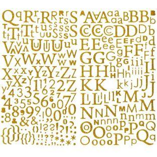 Alphabet en or pailleté