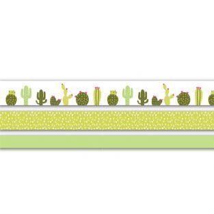 3 masking tapes 5 m - Cactus (2 cm / 1,5 cm / 1 cm)