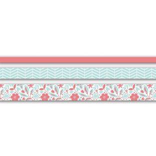 3 masking tapes 5 m - mint & pink (2 cm / 1,5 cm / 1 cm)