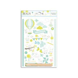 Baby boy decals 15 cm x 21 cm - blue