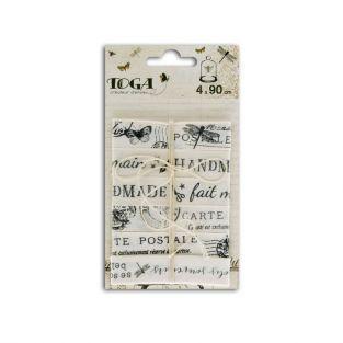 4 rubans imprimés Cabinet de curiosités de 90 cm
