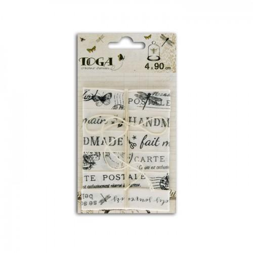 4 cintas impresas 90 cm - Gabinete de curiosidades