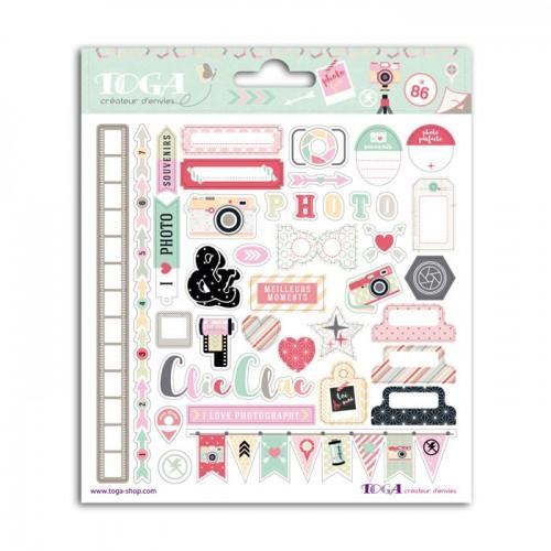 86 stickers photograph 15 x 15 cm clic clac. Black Bedroom Furniture Sets. Home Design Ideas