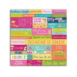 33 stickers Printemps- Dimanche à la campagne
