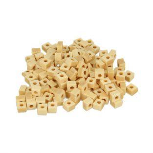 200 cuentas de madera cuadradas 5 x 3 mm