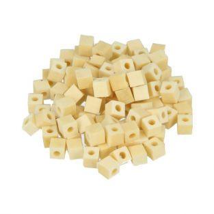 190 cuentas de madera cuadradas 5 x 5 mm