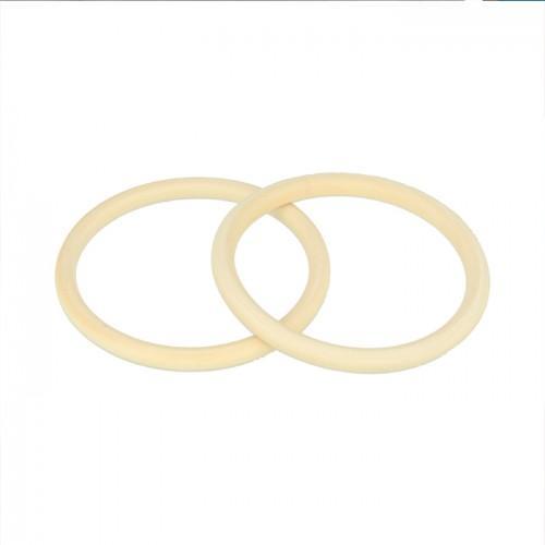 2 pulseras de madera anillos 6,8 cm