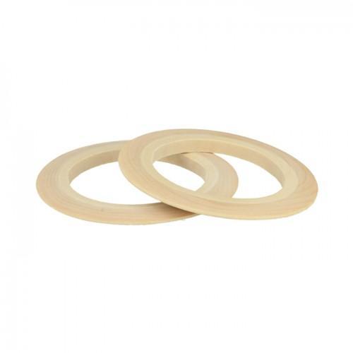 2 flat wood bracelets 6,8 cm