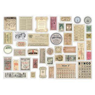 41 formes découpées vintage - Le temps des secrets
