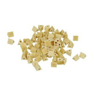 80 perles en bois triangles 5 mm