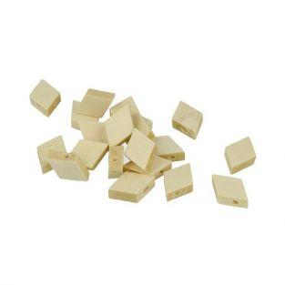 10 diamond-shaped wood beads 20 mm