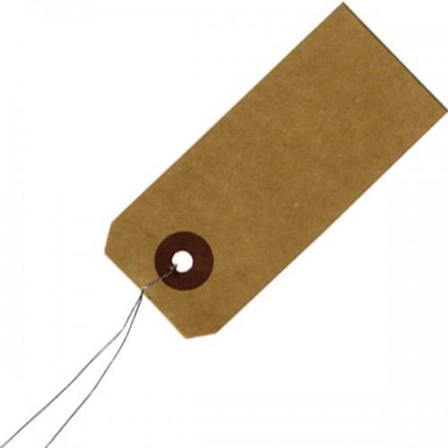 """Etiquettes """"kraft"""" avec fil métallique"""