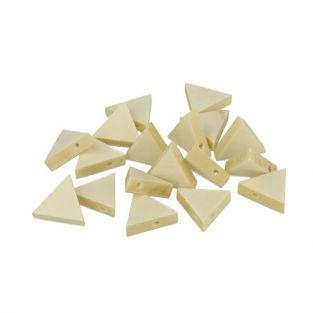 10 wood beads triangles 20 x 17 mm