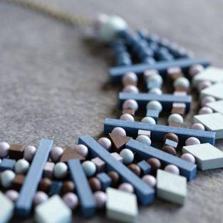 10 perles en bois triangles 20 x 17 mm