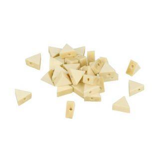 15 perles en bois triangulaires 12 x 10 mm
