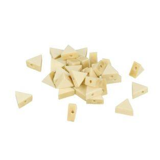 15 triangular wood beads 12 x 10 mm